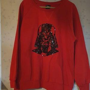 Star Wars red jumper with Darth Vader